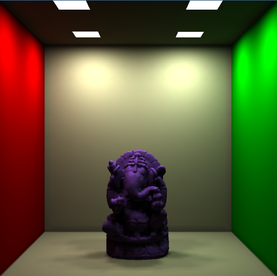 GPU-based Global Illumination for Point Models using Fast