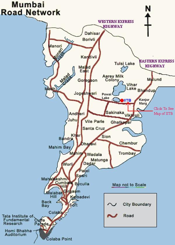 Mumbai Road Map Reaching IIT Bombay Mumbai Road Map